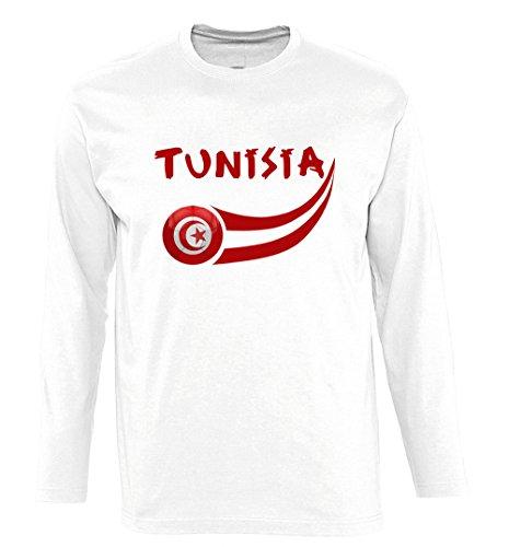 Supportershop tunisia maglietta maniche lunghe uomo, uomo, tunisie, bianco, xxl
