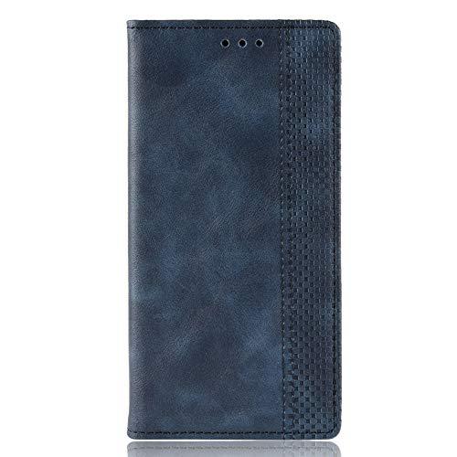 SPAK ZTE Nubia Red Magic 3 Hülle,Premium Leder Geldbörse Flip Schutzhülle mit Magnetschnalle Cover für ZTE Nubia Red Magic 3 (Blau)