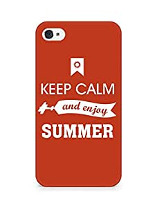 Amez Keey Calm and Enjoy Summer Back Cover For Apple iPhone 4s