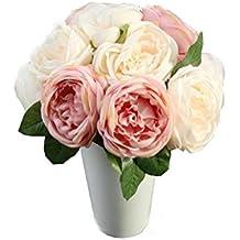 flores artificiales decoración altas para salon Sannysis flores secas naturales flores de tela bouquet flores artificiales