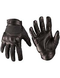Gants Tactical Cuir/Kevlar noir - Miltec
