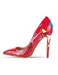 free shipping bba97 a2f8c Amazon.it: Scarpe Donna Colorate - Rosa / Scarpe col tacco ...