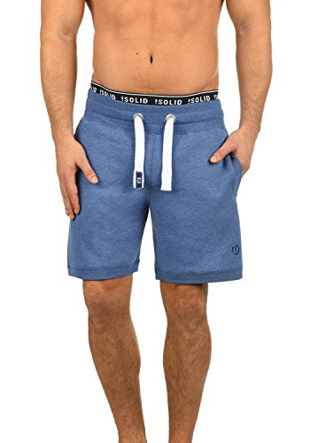 !Solid BennShorts Herren Sweat-Shorts Kurze Hose Sport-Shorts aus hochwertiger Baumwollmischung, Größe:XL, Farbe:Faded Blue Melange (1542M) - Baumwolle Sweat Short