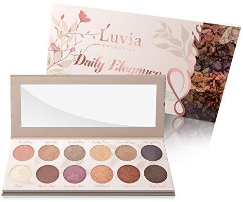 Luvia Lidschatten-Palette - Daily Elegance Make-Up - Inkl. 12 glamourösen Farben - Limitierte...