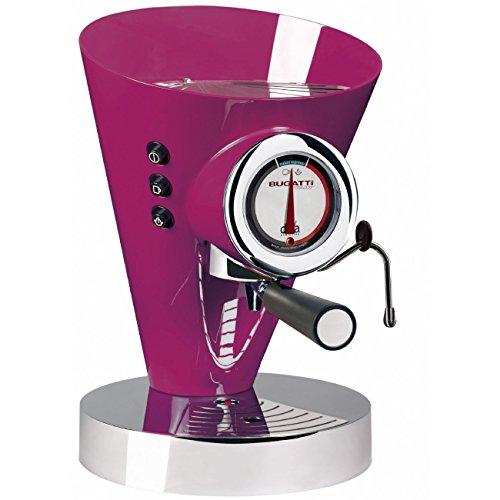 Bugatti 15-edivacl Kaffeemaschine Espresso und Cappuccino Diva Evolution, flieder