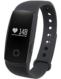 GBlife Intelligent Bracelet Connecté / Fréquence Cardiaque / Tracker d'Activité / Podomètre Calories / Montre Cardiofréquencemètre / Bluetooth 4.0 / Caméra Télécommande / Écran OLED pour Smartphone iPhone Android