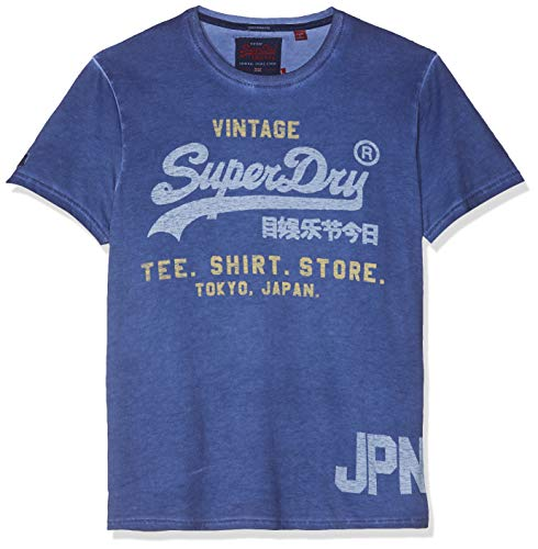 Superdry Herren Shirt Shop Duo Overdy Lite Tee Pullunder, Blau (Blueprint Zm6), X-Small