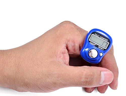 Annedenn Mini LCD elektronische Digitalanzeige Finger Hand Tally Zähler (zufällige Farbe) Lcd-digitalanzeige