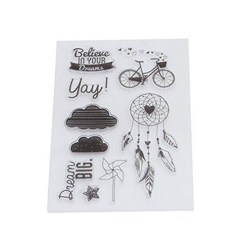 Arpoador silic1 Stempel Seal Aufkleber Clear Stamps DIY Craft Scrapbooking Fotoalbum Dekorieren (Bike Cloud)