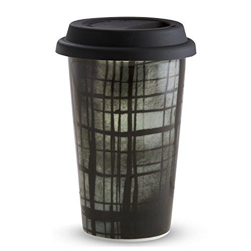 Wedgwood Vera Print Plaid Travel Mug, 12 oz, Multicolor by Wedgwood