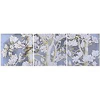Pared Floral 3 Paneles de Roble Blanco Rosado de Las Flores de Colores Paingting la decoración del Arte de la Sala de Estar Regard