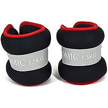 Promic Comfort Fit–Juego de pesas para tobillo o muñeca con correa ajustable para ejercicio Fitness gimnasio Entrenamiento de Resistencia, se vende en pares, 2 x 1.5 KG-Black