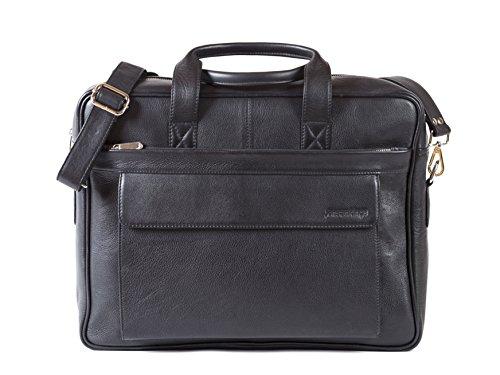 Preisvergleich Produktbild Aktentasche Laptoptasche 15,6 Zoll aus echt Leder für Mann Frau unisex für Uni Business und Büro Premium von Jensankings
