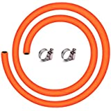BMB Captain King LPG Gas Pipe with ISI and ISO Certified-1.5 Meter,Steel Reinforced Rubber Gas Pipe (1.5M,Orange)-5 Year…