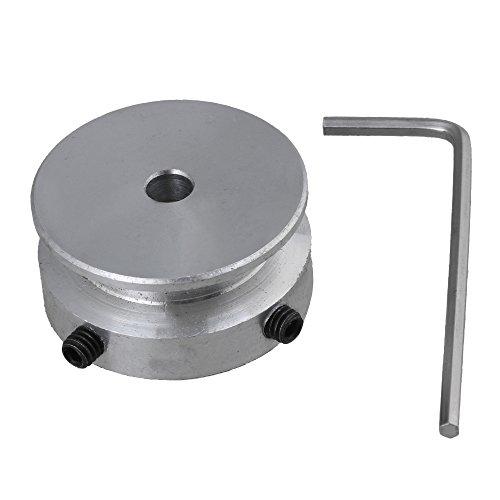 30x15x5MM Aluminio plateado 1 ranura de paso fijo para el eje del motor Correa redonda de 6 mm con llave