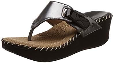 Catwalk Women's Gun Metal Fashion Slippers - 8 UK/India (40 EU) (6888gm)