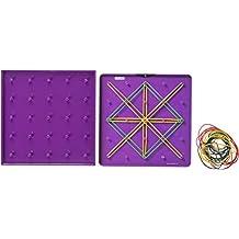 Miniland Educational 95061 - Geoplanos, 6 piezas, 15 cm