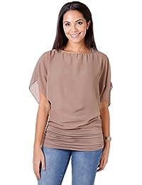 8c8587d4b43 Amazon.co.uk: Brown - Tops, T-Shirts & Blouses / Women: Clothing