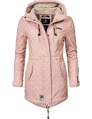 Marikoo Damen Softshell-Jacke Outdoorjacke Zimtzicke Rosa Dots Gr. L