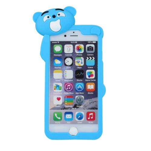 BACK CASE 3D Teddybär 2 für Apple iPhone 5 iPhone 5S iPhone 5G iPhone 5SE Handytasche Hülle Cover Case Schutzhülle Tasche (blau) (blau) blau