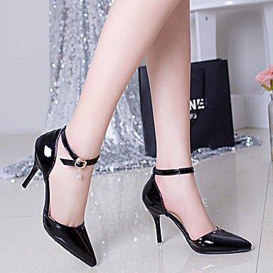 Moda Donna Sandali Sexy donna tacchi Primavera / Estate / Autunno tacchi / Punta PU Office & Carriera / Casual Stiletto Heel altre nere White