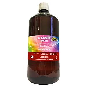 E Liquid Base 1L 70PG/30VG OHNE Nikotin 0 1000 ml + 50ml Delta Green Mix 34+ Hanf-Verflüssiger Weed Wax Emulgator + 3x 120ml Chubby