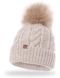 JAKOB® Cappello Pom Pom Beanie da Donna Cappello Invernale Morbido  79aa5a4babed