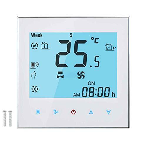 Censhaorme WiFi-Fernbedienung zentrale Klimaanlage Temperaturregler 2 Rohr Programmierbarer Thermostat LCD-Touchscreen