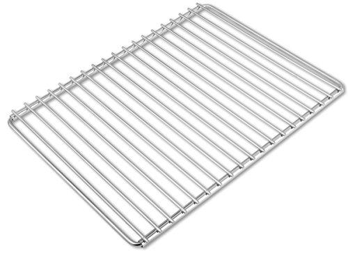 Edelstahl-Grillrost mit verstellbarer Breite 40-55X30cm aus Europäischem Edelstahl, Grillrost Verstellbar, Grillrost Rostfrei -