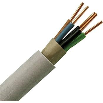 Kopp 153050848 Mantel-Leitung NYM-J, 5 x 1.5 mm², 50 m, grau