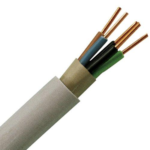 Preisvergleich Produktbild Kopp 153050848 Mantel-Leitung NYM-J, 5 x 1.5 mm², 50 m, grau