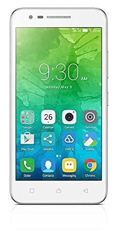 Lenovo PA450163PL/K10a40 C2 LTE Dual SIM Smartphone 12,7 cm (5 Zoll) Android 6.0 Marshmallow 1 GB RAM Speicher weiß