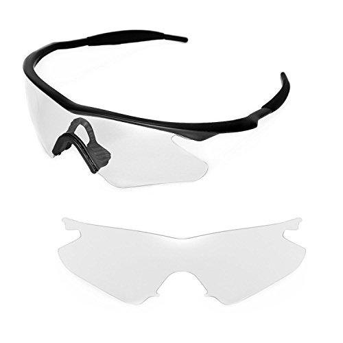 Walleva Ersatzgläser für Oakley M Frame Heater Sonnenbrille - Mehrfache Optionen (Klar)