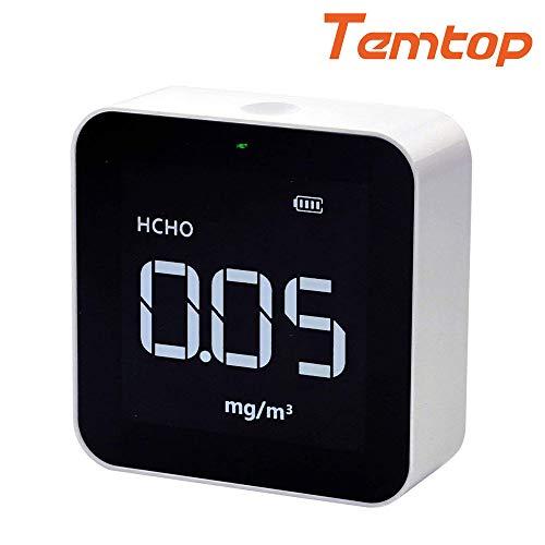 Temtop M10 Luftqualitätsmonitor für PM2.5 HCHO TVOC AQI Professional elektrochemischer Sensor Detektor Echtzeit-Anzeige wiederaufladbarer Akku 【3 Jahre Garantie】 -
