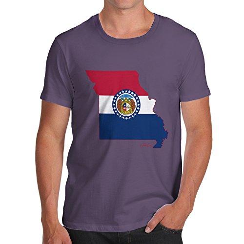 TWISTED ENVY  Herren T-Shirt Gr. X-Large, Violett - Pflaumenfarben
