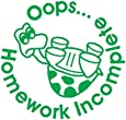 Ooops Homework Incomplete Self Inking Teachers Reward Stamp X11883