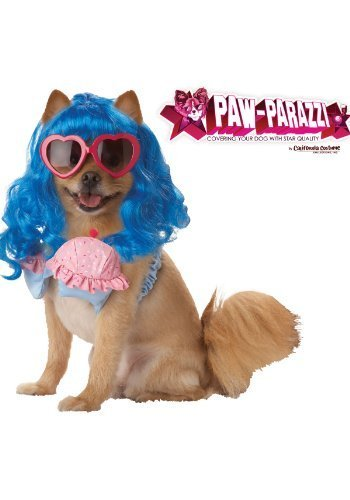 Pup-A-Razzi Cupcake Girl Girl Dog Costume, Small, Blue/Pink -