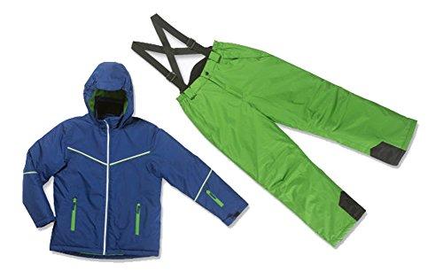Kinder Skianzug Schneeanzug Ski Anzug blau-grün Größe wählbar