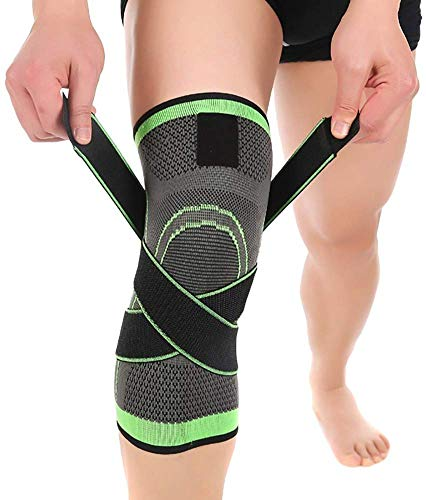 Leosportz (Pack of 1) Knee Sleeve, Compression Fit Support -for Joint Pain and Arthritis Relief, Improved Circulation Compression - Wear Anywhere - Single
