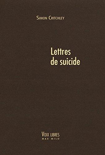 Lettres de suicide: Voies Libres (VOIX LIBRES)
