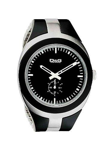 Dolce Gabbana - DW0370 - Montre Homme - Quartz - Analogique - Chronographe - Bracelet Acier Inoxydable Noir