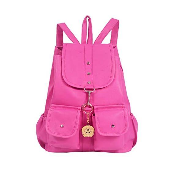Beets Collection Studant Mini Shoulder Backpack for Women & Girls Bag (Pink)