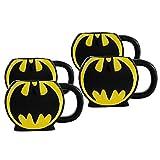 DC Comics Lot de 4 mugs 3D sculptés Motif Batman
