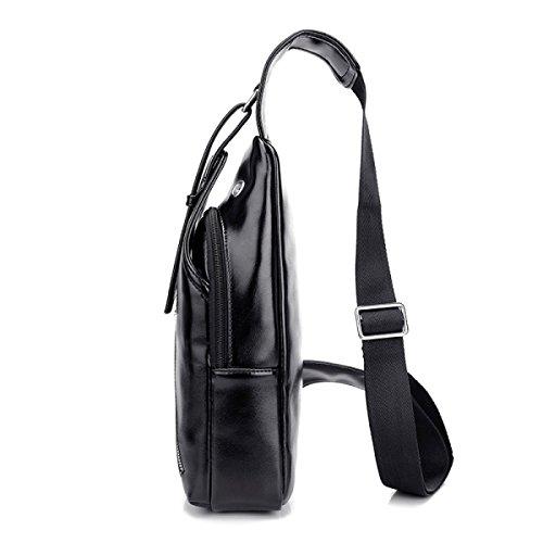 BULAGE Pack Brustbeutel Männer Mode Sport Outdoor Rucksack Männer Lässig Schulter Kleiner Wasserdicht Langlebig Black