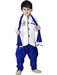 Avistar Boys Cotton Blended Sherwani and Breeches Set