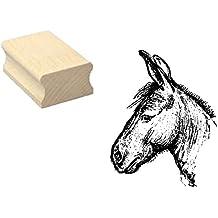 Sello sellos de madera diseño sello « Burro cabeza » Scrapbooking–Embossing Manualidades Wild Animal Zoo Animales Park Maul Animales