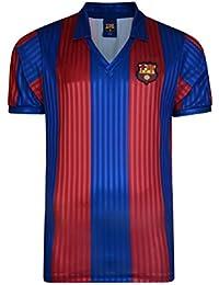 FCB FC Barcelona Meister Española 1992 Retro Camiseta, Unisex, Rojo y Azul, ...
