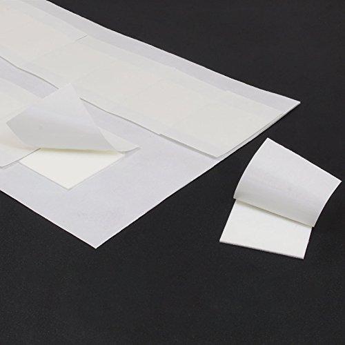 Klebestrips | Doppelseitig stark klebend | Quadratisch | Größe wählbar | 1 mm Dicke | Menge wählbar | Für starke Montageverklebungen auf Metall, Kunststoff, Holz, Lack und vielen anderen Oberflächen | Weiße Klebepads extra stark haftend / 20 x 20 x 1 mm Dicke 20 Stück