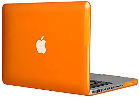 Topideal Crystal Hard Shell Case Cover Für MacBook 13Pro 33,8cm [33,1cm] (Modell: A1278) orange