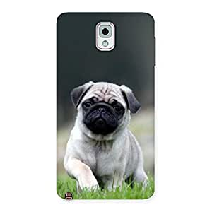 Radiant Cuty Pug Dog Back Case Cover for Galaxy Note 3